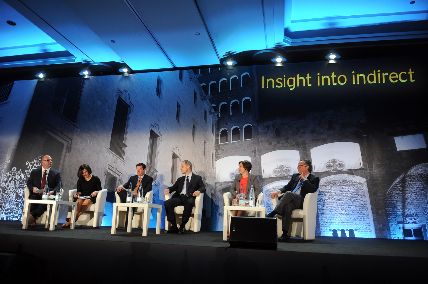 EY 'Insight into indirect' stage set, Barcelona 2015